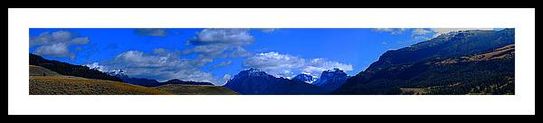 Yellowstone Framed Print featuring the photograph Mountain Panorama by Breanna Calkins