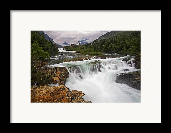 Glacier National Park Framed Print featuring the photograph Mountain Paradise by Mark Kiver