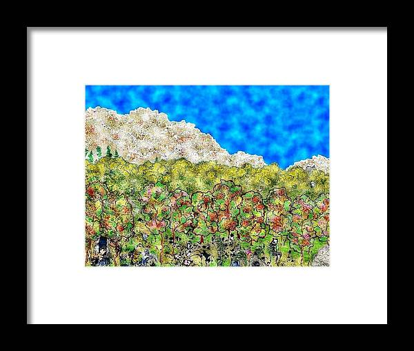Park Framed Print featuring the digital art Mountain Park by Christine Mulgrew