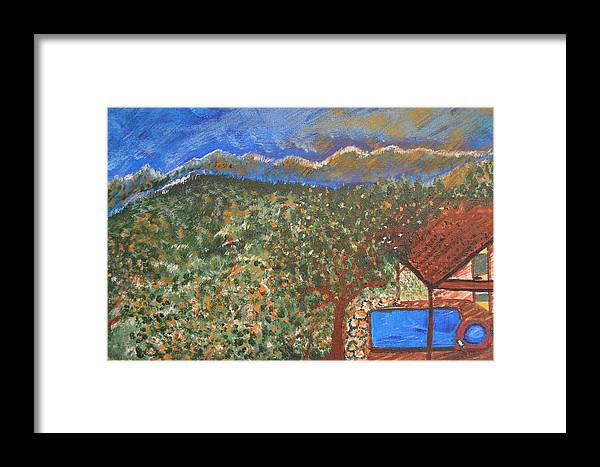 Mountain Framed Print featuring the painting Mountain Pool by Melissa Conaway