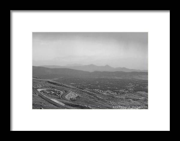 Mountain Framed Print featuring the photograph Mountain Road by Stephanie Thomson