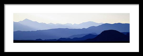 Colorado Photographs Framed Print featuring the photograph Mountain Silhouettes by Gary Benson