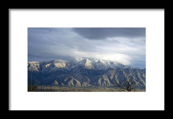 Mountain Framed Print featuring the photograph Mountain Storm by Lovina Wright