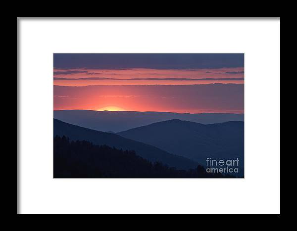 Great Framed Print featuring the photograph Mountain Sunset - D008988 by Daniel Dempster