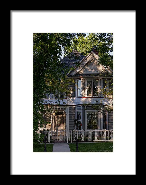 Victorian Home Framed Print featuring the photograph Mountain Victorian Life by Aaron Burrows