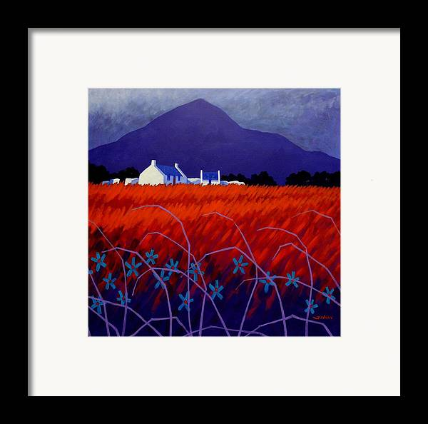 Landscape Framed Print featuring the painting Mountain View by John Nolan