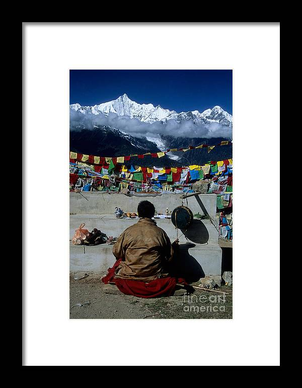 Himalaya Framed Print featuring the photograph Mountain Worship In The Himalaya by James Brunker