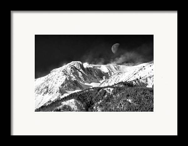Mountains Of The Moon Framed Print featuring the photograph Mountains Of The Moon by Adele Buttolph