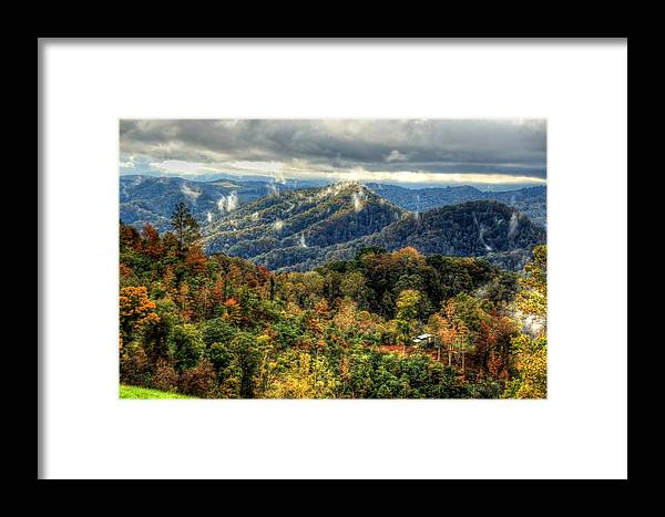 Vistas Framed Print featuring the photograph Mountains Smoking by Heavens View Photography