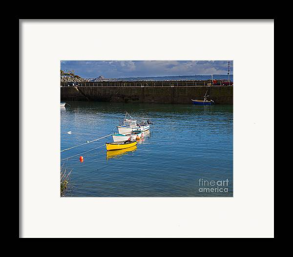 Mousehole Framed Print featuring the photograph Mousehole Cornwall by Louise Heusinkveld