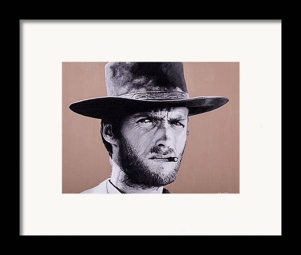 Framed Print featuring the painting Mr. Eastwood by Ellen Patton