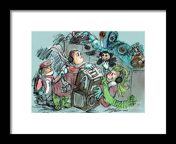 Framed Print featuring the digital art Mr. Gears Mixed Media by Simon Drohen