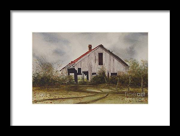 Old Barns Framed Print featuring the painting Mr. Munker's Old Barn by Charles Fennen