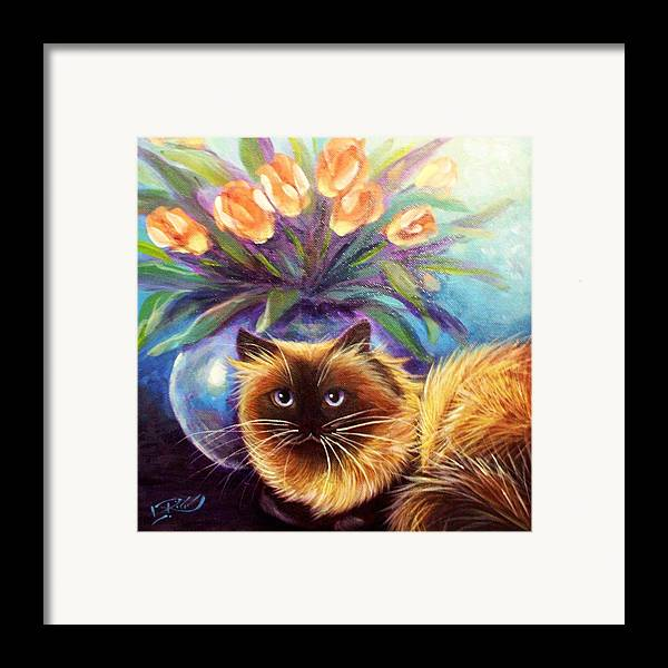 L. Risor Framed Print featuring the painting Mr. Wow by L Risor