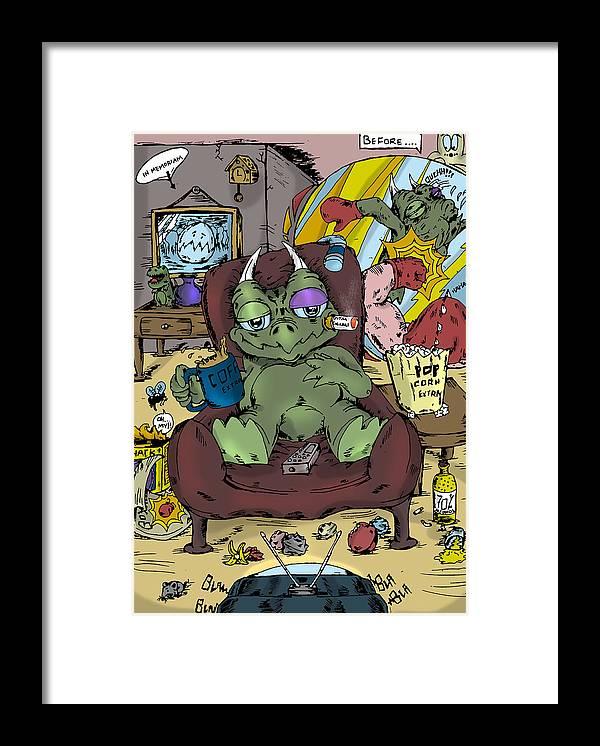 Dinosaurus Framed Print featuring the digital art Mr.dino by Murni Ch