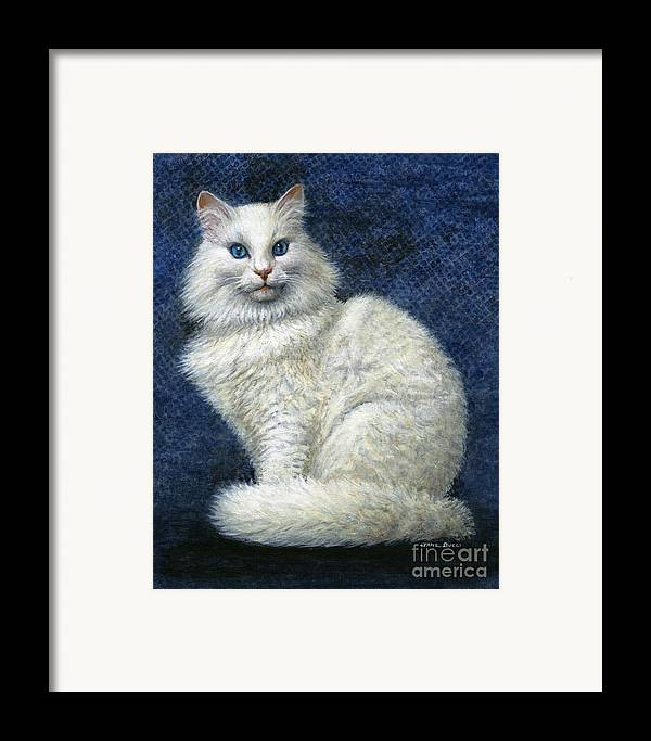 Cat Framed Print featuring the painting Mrs. Moon by Jane Bucci