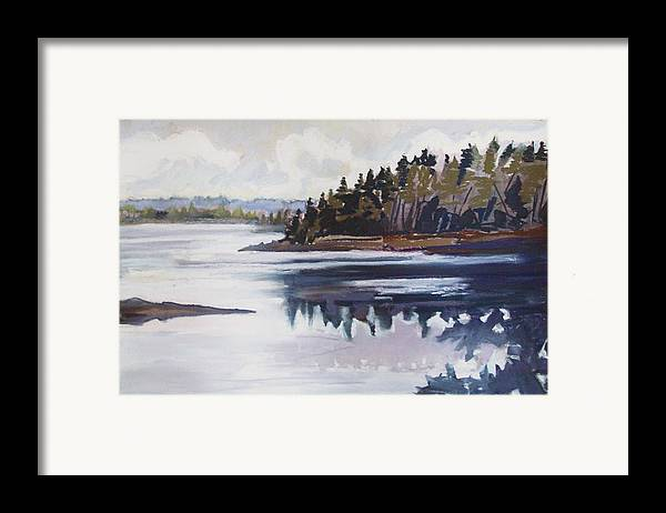 Downeast Maine Framed Print featuring the pastel Mt. Desert Morning by Grace Keown