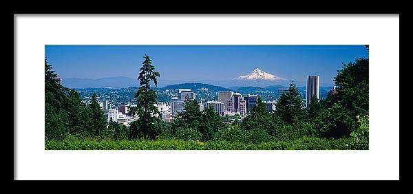 Photography Framed Print featuring the photograph Mt Hood Portland Oregon Usa by Panoramic Images
