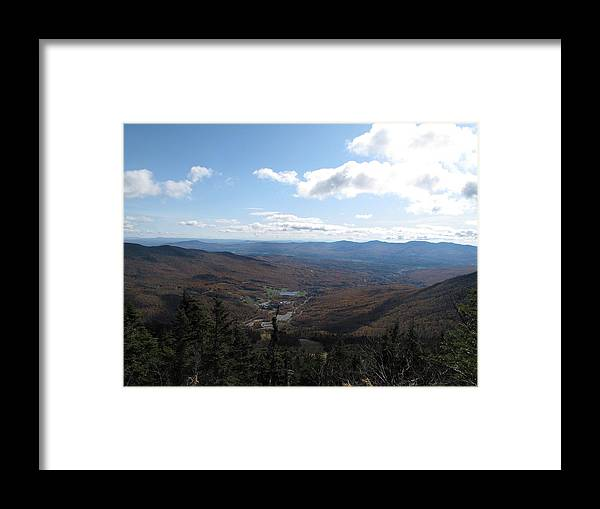 Mountain Framed Print featuring the photograph Mt Mansfield Looking East by Barbara McDevitt