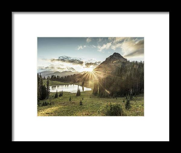 Scenics Framed Print featuring the photograph Mt.rainier In Sunset by Chinaface