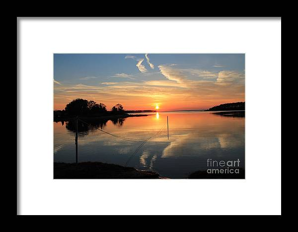 Sunset At Mud Cove Monument Beach Framed Print featuring the photograph Mud Cove Sunset by John Doble