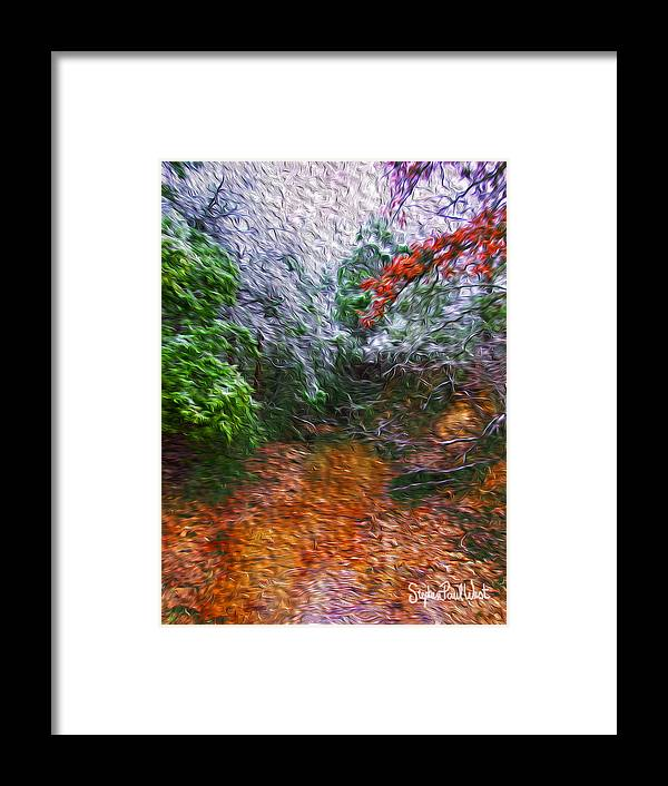 Muddy Framed Print featuring the photograph Muddy Texas Creek In Winter by Stephen Paul West