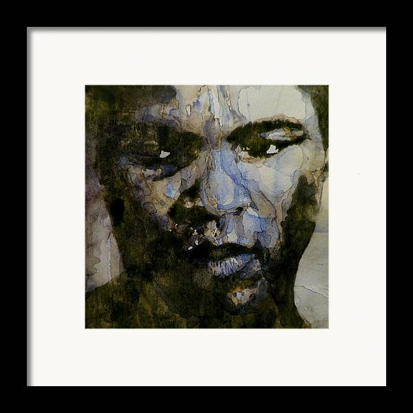 Muhammad Ali Framed Print featuring the painting Muhammad Ali A Change Is Gonna Come by Paul Lovering