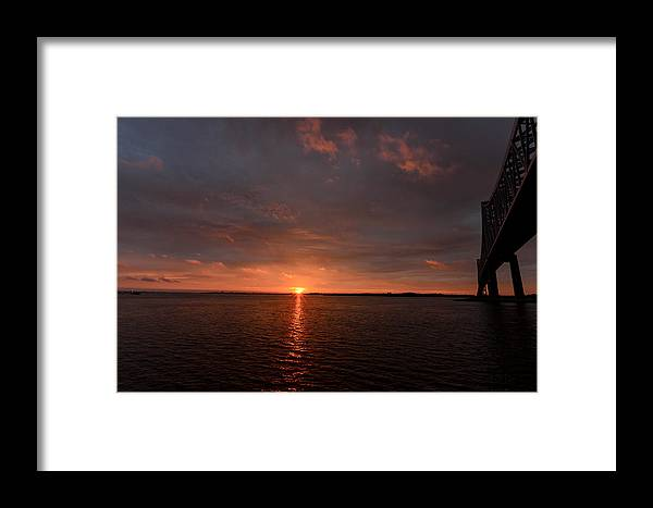 Landscape Framed Print featuring the photograph Multicolored Sunrise by AE Jones