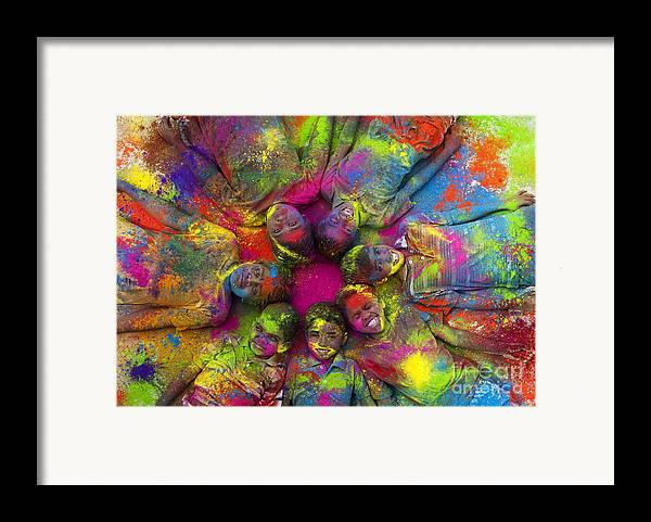 Indian Boys Framed Print featuring the photograph Multicoloured Boys by Tim Gainey