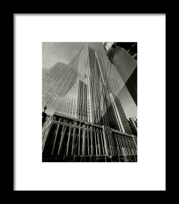 Architecture Framed Print featuring the photograph Multiple Exposure Of The Empire State Building by Edward Steichen