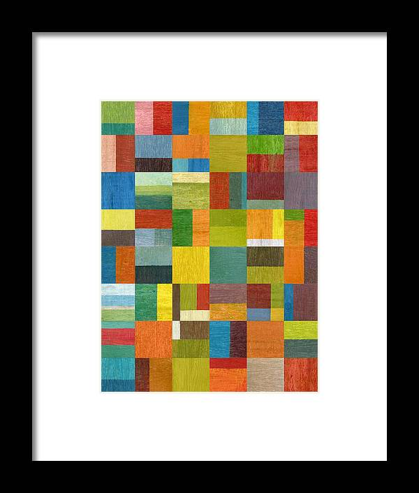 Abstract Framed Print featuring the painting Multiple Exposures Lv by Michelle Calkins