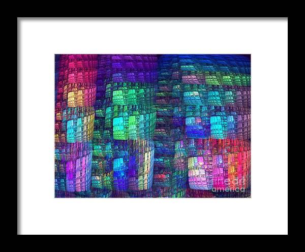 Apophysis Framed Print featuring the digital art Multiplicity by Kim Sy Ok