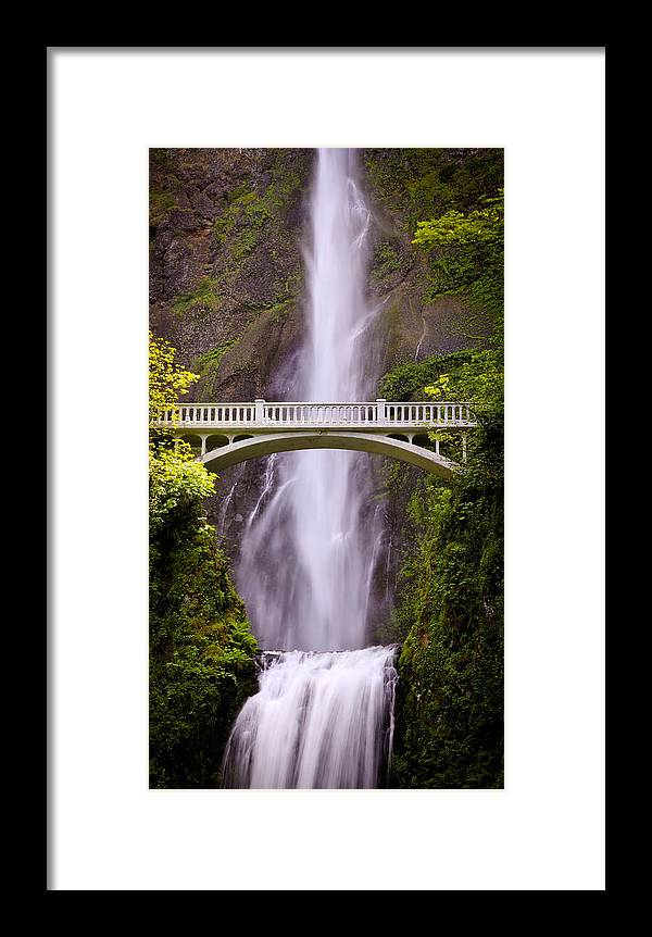 Multnomah Falls Framed Print featuring the photograph Multnomah Falls Silk by Athena Mckinzie