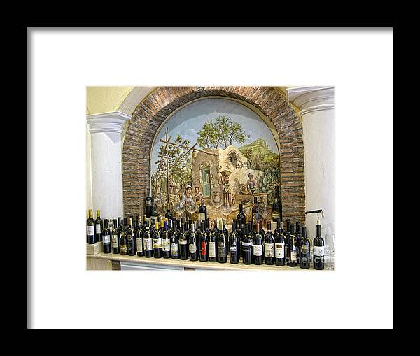 Sicily Framed Print featuring the photograph Mural by Timothy Hacker