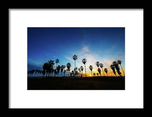 Shadow Framed Print featuring the photograph Muscle Beach At Dusk by Extreme-photographer