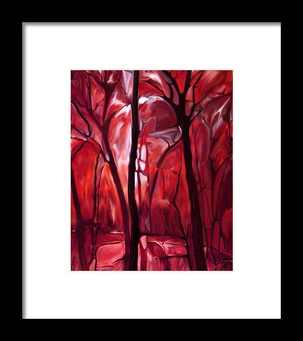 Trees Framed Print featuring the painting Muscle Tissue Study by Jonathon Hetts