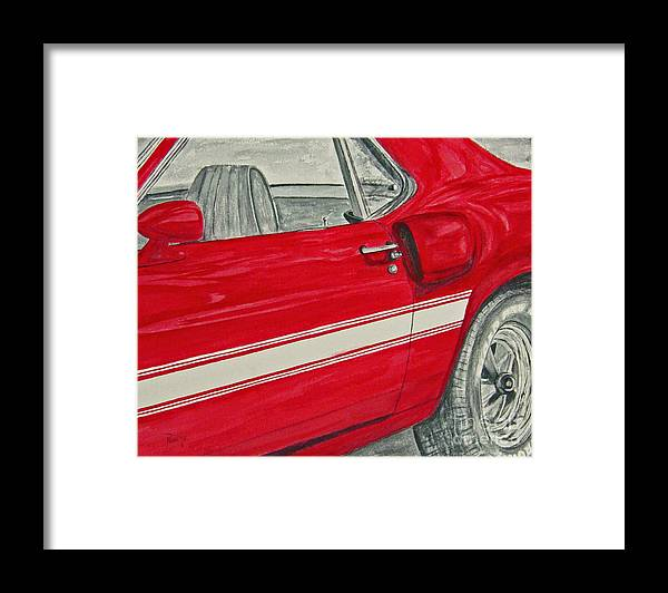 Car Framed Print featuring the painting Muscles by Regan J Smith