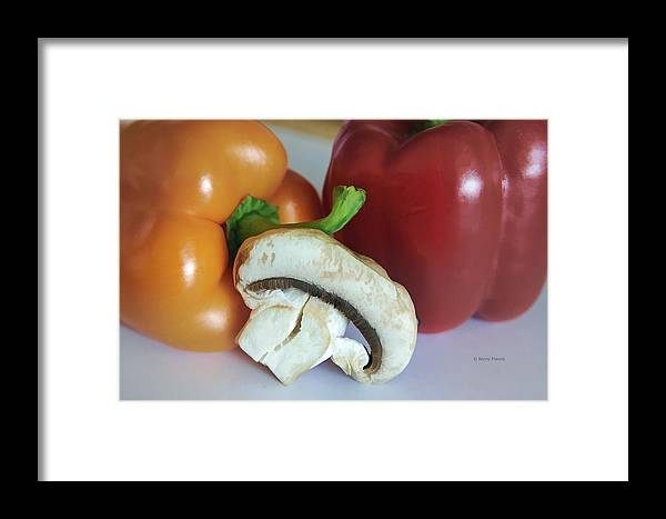 Kenny Francis Framed Print featuring the photograph Mushroom And Peppers by Kenny Francis
