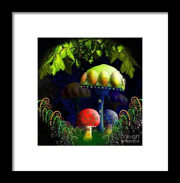 Mushroom Framed Print featuring the painting Mushroom Town by Neil Finnemore