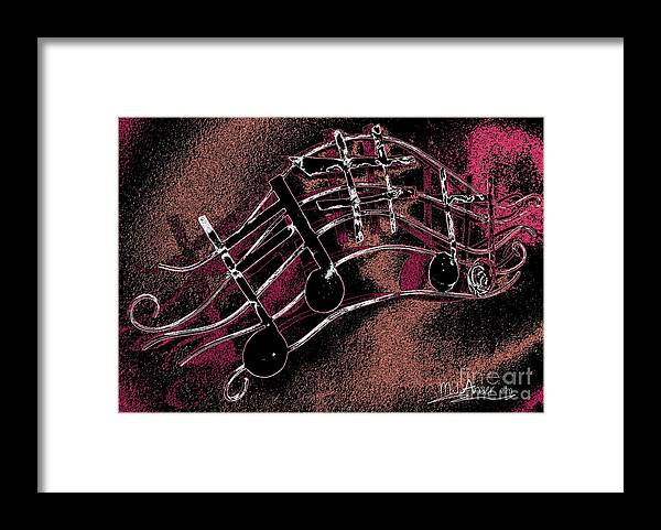 Brochure Framed Print featuring the digital art Music Capitol A 4 by Mark Ansier