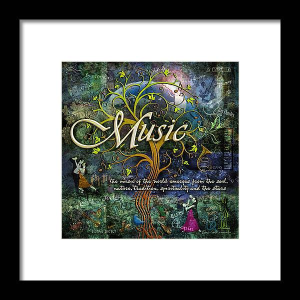 Music Framed Print featuring the photograph Music by Evie Cook