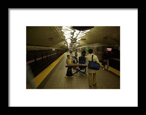 Music Framed Print featuring the photograph Music In New York Subway by Andy Fletcher