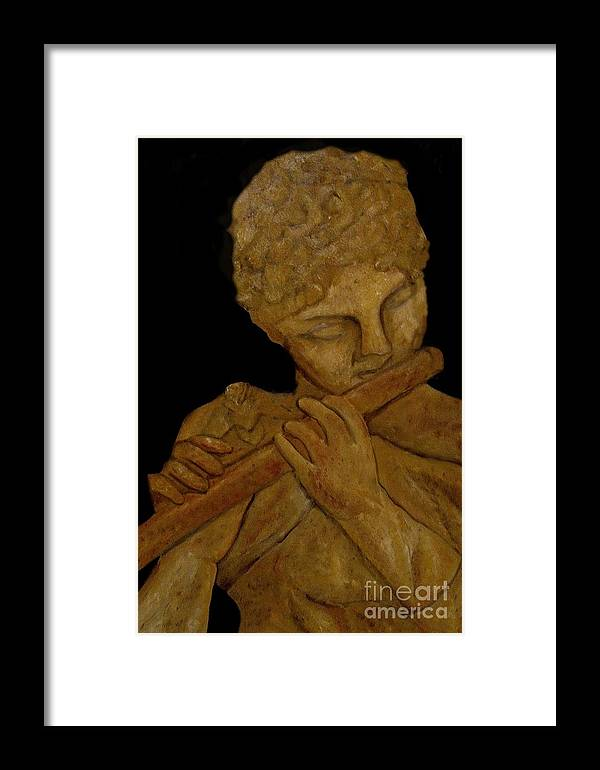 Music Framed Print featuring the painting Music In Stone by Nancy Bradley