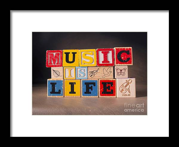 Music Is Life Framed Print featuring the photograph Music Is Life by Art Whitton
