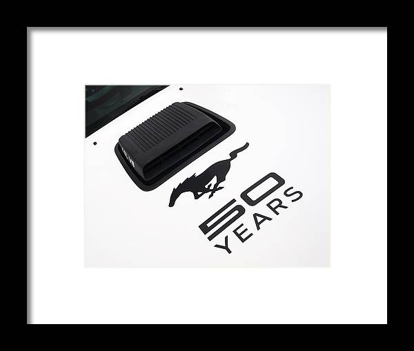 Ford Mustang Framed Print featuring the photograph Mustang Celebration by Gill Billington
