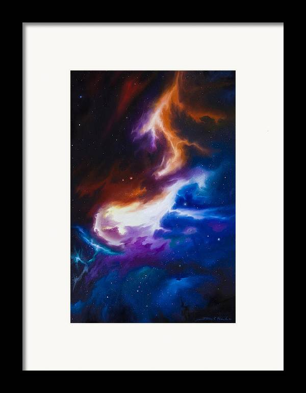 James C. Hill Framed Print featuring the painting Mutara Nebula by James Christopher Hill