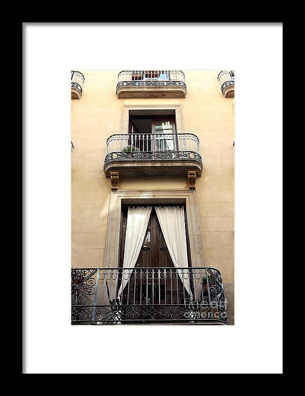 Barcelona Framed Print featuring the photograph My Apartment by Sophie Vigneault