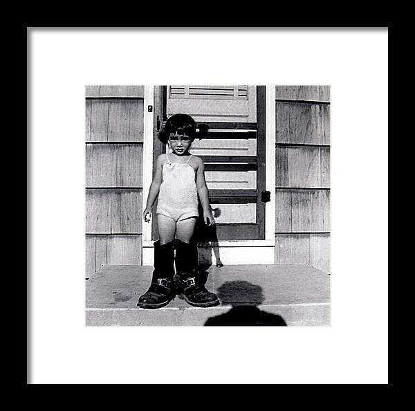 Vintage Framed Print featuring the photograph My Dad's Boots by Image Takers Photography LLC