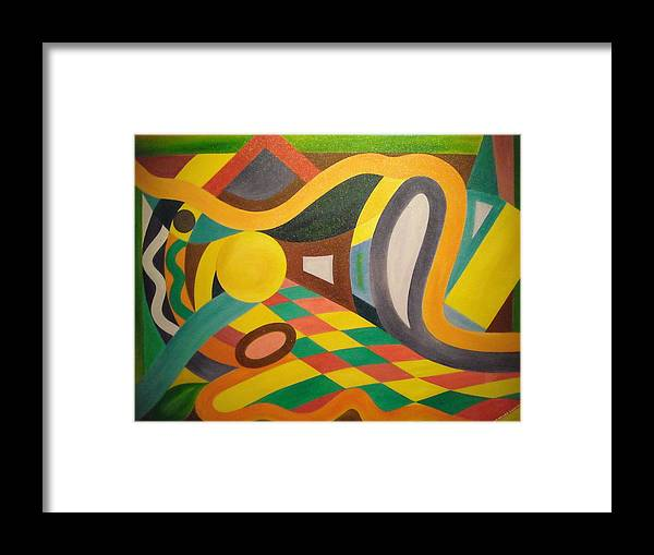 Abstract Painting Framed Print featuring the painting My Dream Perspective by Nilo Delos Santos