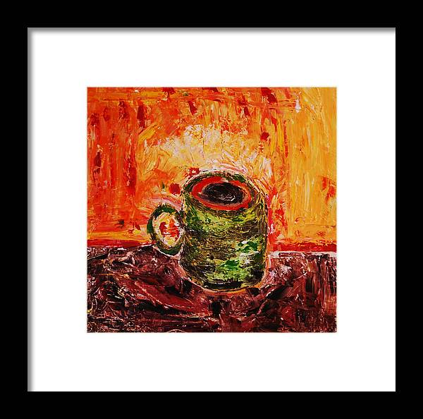 Coffee Framed Print featuring the painting My Favorite Cup by Ian Fruehauf